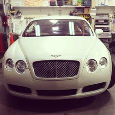 Satin Pearl White Bentley GT Wrap