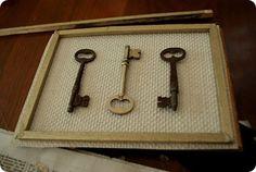 Decoração com chaves passo a passo