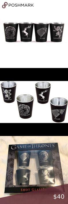 Game of Thrones Shot Mini Glasses Set of 4 Sigils All Houses