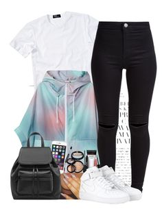 """""""(146)"""" by oneandonly-britbrat ❤ liked on Polyvore featuring Polo Ralph Lauren, Monki, New Look, Laura Geller and NIKE"""
