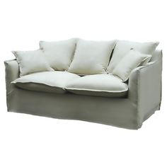 Ren-Wil Milano Fabric Loveseat $1357 slipcovered, overstuffed look is casual and romantic as well as totally comfy.