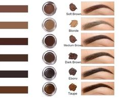 Our Smudge proof brow pomade, creates a full and thick arch Its formula allows it to be applied easily It is available in seven colors all in which are naturallooking and its shades rich in pigment Colors available are Soft Brown Auburn Medium B - e Eyebrow Makeup Tips, Beauty Makeup, Eyebrow Brush, Wolf Makeup, Eyebrow Tinting, Mac Makeup, Makeup Geek, Makeup Tools, Eyeliner