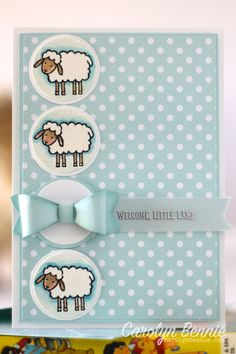 Barnyard Babies Stampin' Up! Baby Card - carolynbennie.com Carolyn Bennie - Independent Stampin' Up! Demonstrator in Australia