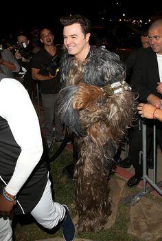 Seth MacFarlane dressed as a Wookie on Halloween 2015