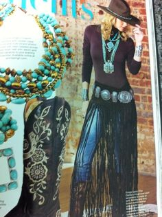 I'm digging the long fringe belt/skirt. Would look cool for BM costume Cowgirl Chic, Western Chic, Cowgirl Mode, Estilo Cowgirl, Cowgirl Style, Western Wear, Mode Hippie, Bohemian Mode, Bohemian Style