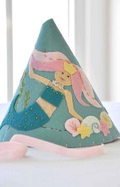 Felt Party Hat  Little Mermaid by StellandLivi on Etsy