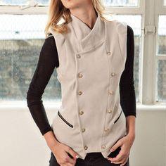 Interlock Vest Mushroom, $135, now featured on Fab.