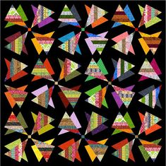 "RADIOACTIVE - Queen 83.5"" x 83.5"" or Double 70"" x 70"" - Quilt-Addicts Pre-cut Quilt Kit or Finished Quilt"