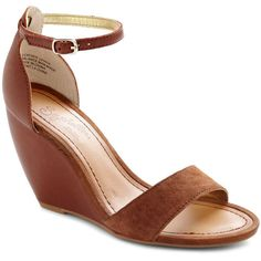 Seychelles Thyme Wedge in Spice ($95) ❤ liked on Polyvore featuring shoes, sandals, wedges, brown, brown shoes, ankle strap wedge shoes, wedges shoes, ankle strap sandals and seychelles shoes