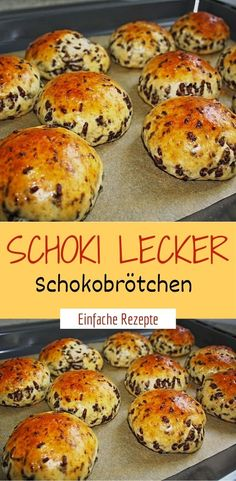 Schoki delicious chocolate rolls- Schoki lecker Schokobrötchen Ingredients For the dough: 300 g flour 1 pck. Baking powder 125 g sugar 250 g low-fat quark 4 tbsp milk 4 tbsp oil 1 egg (s), size M 100 g chocolate sprinkles - Donut Recipes, Healthy Dessert Recipes, Smoothie Recipes, Snack Recipes, Easy Snacks, Healthy Snacks, Healthy Smoothies, Eating Healthy, Clean Eating