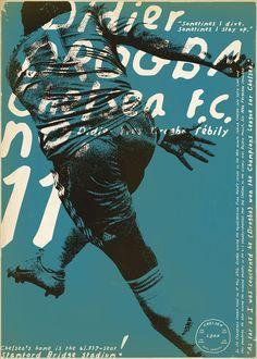 Drogba by Zoran Lucic Giclee Print 50x70 cm | 1/100 | 50e #zoranlucic #football #soccer