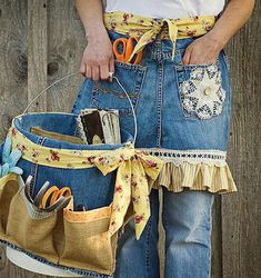 Cute 1 Hour Denim Apron Sewing Project plus a few others!