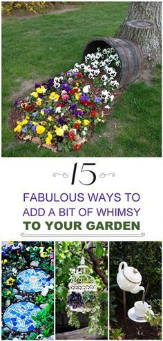 how to add whimsy to your garden to take away the boring blahs, and to make your garden a place people want to come back to!Learn how to add whimsy to your garden to take away the boring blahs, and to make your garden a place people want to come back to! Garden Whimsy, Garden Art, Plants, Garden, Whimsical Garden, Lawn And Garden, Backyard Garden, Outdoor Gardens, Backyard
