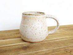 Ceramic Pottery Mug Stoneware Coffee Cup in Satin Oatmeal
