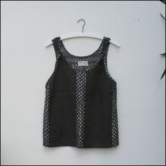 milena silvano — Manas Tank Pewter. This is perfect for when you have short yardage