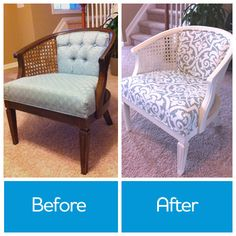 Would you #reupholster a #chair to give it new life? If you're game, try this #DIY project @Remodelaholic .com .com