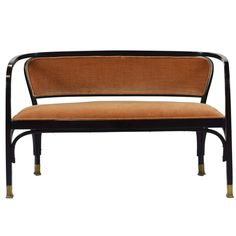Vienna Secession Josef and Jacob Kohn Settee by Gustav Siegel | From a unique collection of antique and modern settees at https://www.1stdibs.com/furniture/seating/settees/