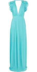 GucciPleated silk-georgette gown