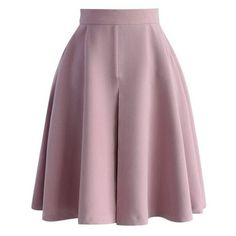 Chicwish Spring Mood A-line Skirt in Lilac ❤ liked on Polyvore featuring skirts, lilac skirt, purple skirt, chicwish skirts, knee length skirts and a-line skirts