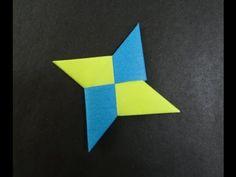 Origami Tutorial - How to fold an Origami Ninja Star (Shuriken) - YouTube