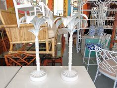 VINTAGE Palm Tree Lamps for the Console :)