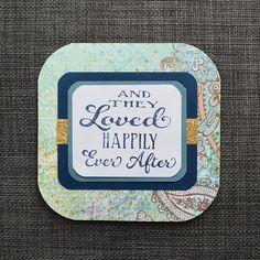 Handmade Wedding card! Blue with gold sparkles! Bit of a boho chic feel to it. https://www.etsy.com/ca/listing/532392391/blue-boho-wedding-card-fairytale-wedding