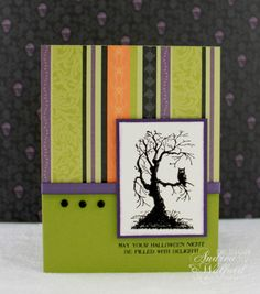 stampin up halloween card ideas | Embossed Halloween Card :: Andrea Walford - An {art}ful life ...