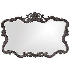 "Howard Elliott Talida 38"" x 27"" Charcoal Gray Wall Mirror -"