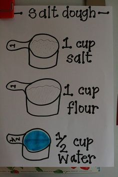 Salt dough - this will come in handy when I want to make ornaments with my future children. :)