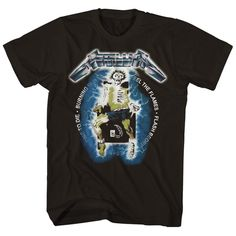 Merch Deals - T-Shirts, Vinyl, Posters Merchandise Lightning Electric, Ride The Lightning, Metallica T Shirt Vintage, Jason Newsted, Tour Merch, And Justice For All, Tour T Shirts, Electric Chair