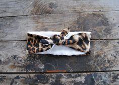 Turban Headband Women's Leopard Knit Jersey by aperfectmessvintage