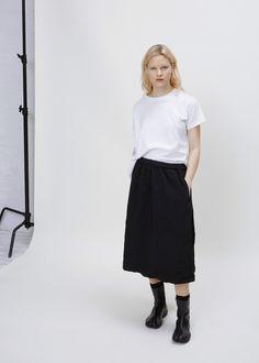 Comme des Garcons GIRL Elastic Waist Skirt (Black)