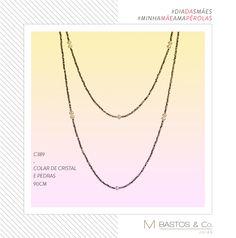 Colar de cristal swaroviski e perolas naturais exclusivo MBastos & CO acesse: www.mbastosjoias.com.br