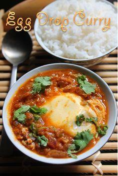 YUMMY TUMMY: Egg Drop Curry Recipe / Tomato Egg Drop Curry Recipe