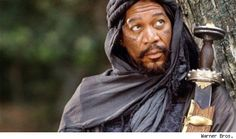 "Morgan Freeman as Azeem, a character from the film - ""Robin Hood: Prince of Thieves"". Fantasy Male, Skyrim Cosplay, Movies And Series, Movies And Tv Shows, Morgan Freeman Movie, Movies Costumes, Movie Stars, Movie Tv, Actor"