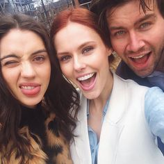 Adelaide Kane, Alyssa Campanella, and Torrance Coombs