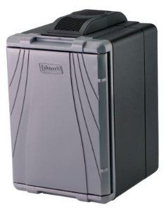 Coleman PowerChill Thermoelectric Cooler by Coleman. $109.97. Built for the long haul, the Coleman PowerChill Thermoelectric Cooler keeps your food and drinks cold. Plug the 40qt cooler into your car's cigarette lighter and hit the road. No ice and no mess, it's the next best thing to taking your refrigerator. There's even an optional adapter (sold separately), that allows you to plug it in at home for extra cool space in your rec room or when you're having a party.