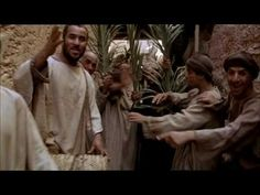 Clip from the BBC's series 'The Passion of Christ' of Jesus' Triumphal entry into Jerusalem. Triumphal Entry, Jerusalem, Bible, Passion, Christian, Torah, Primates, Painting, Crime