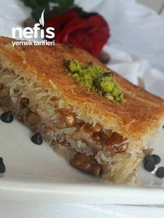 Crispy wire string kadayıf dessert with walnut - 2019 - delicious recipes, Cake Recipe Using Buttermilk, Breakfast Recipes, Dessert Recipes, Desserts, Walnut Recipes, Iftar, Turkish Recipes, Food And Drink, Yummy Food
