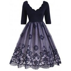SHARE & Get it FREE   Floral Lace Panel V Neck Vintage DressFor Fashion Lovers only:80,000+ Items·FREE SHIPPING Join Dresslily: Get YOUR $50 NOW!