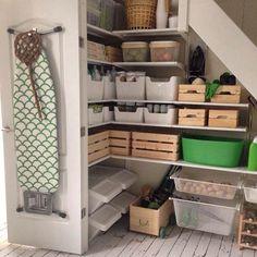 42 The Most Creative Storage Ideas Under Stairs Ikea Algot, Interior Design Living Room, Living Room Designs, Closet Under Stairs, Ikea Under Stairs, Small Floor Plans, Kitchen Organisation, Garage Organization, Creative Storage