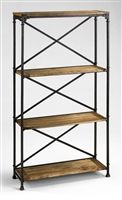 Freestanding Multi Tiered Retail Display with wrought iron and worn wood shelving.  Create that on trend vintage vibe #michelepelafas