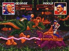 Wow. George Washington and Adolf Hitler fighting each other on cyborg dinosaurs. What a huge lesson in awesome that would be!