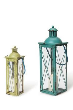Boathouse Lanterns - Set of 2 by Foreside Home & Garden on @HauteLook