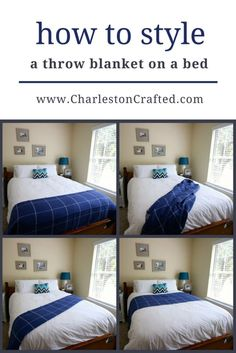 How To Dress A Bed, How To Make Bed, Guest Bedrooms, Guest Room, Home Bedroom, Bedroom Decor, Bed Styling, Bed Throws, My New Room