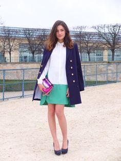 In Paris wearing Dsquared coat and Co  Te dress     www.joujouvilleroy.com