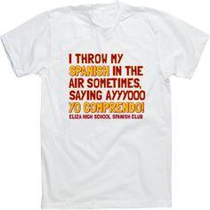 Image Market: Student Council T Shirts, Senior Custom T-Shirts, High School Club TShirts - Choose a Design to Create Custom Spanish Club T-shirts.