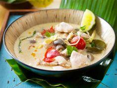 Tom Khaa Gai (Hühnersuppe mit Kokosmilch) Rezept   LECKER