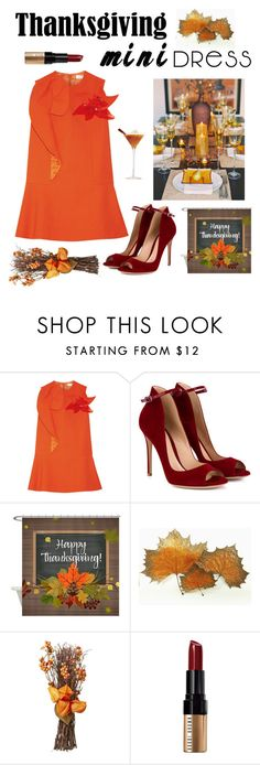 """""""Formal Thanksgiving Look!"""" by kotnourka ❤ liked on Polyvore featuring Delpozo, Gianvito Rossi and Bobbi Brown Cosmetics"""
