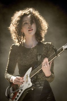 St Vincent: The woman is a beast on guitar, a pretty tongue-in-cheek lyricist,and she's pretty hot. TRIFECTA
